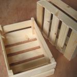 skrzynki drewniane prezent